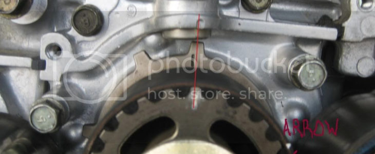 39 98 39 00 Timing Belt Crank Pulley Service Position
