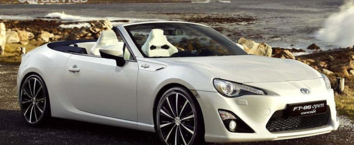 2022 Toyota GR 86 Convertible Rendered New Sports Coupe